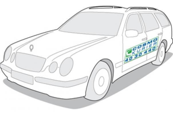 Logo Simulation KFZ Cosmo Aufkleber Magnettafel