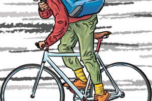freie-arbeit-fahrradkurier-illustration