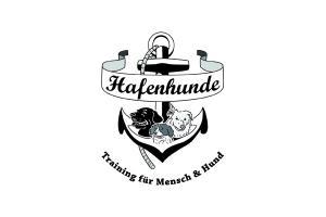 logo hundeschule anker banderole hundeportrait