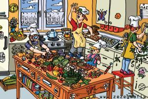 suchbild kinder kochen kueche